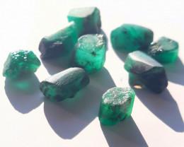 Rough Natural Emerald - Brazil - 9 Units - 42.60 ct