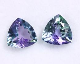 2.15cts Natural Tanzanite Gemstone Pairs / JKL1823