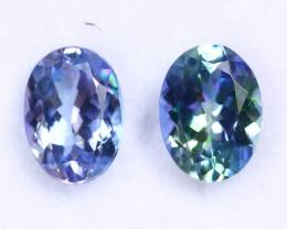 2.16cts Natural Tanzanite Gemstone Pairs / JKL1828