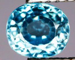 1.34 Cts Blue Zircon Natural Gemstone
