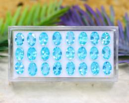 Blue Apatite 10.24Ct VS Natural Brazil Neon Blue Color Apatite Lot A2920
