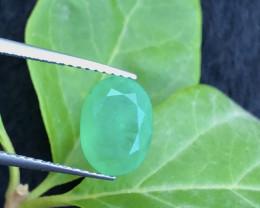Ring Size Beautiful 1.95 Ct Natural Zambia Emerald Gemstone