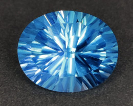 5.50 CTS~EXCELLENT LUSTER CUT NATURAL UNHEATED  BLUE TOPAZ