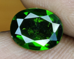 1.45 CTS  RARE NATURAL OVAL CUT RUSSIAN CHROME DIOPSIDE