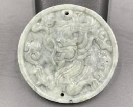 117.45 Cts Genuine Hand Carved Burmese Jade.