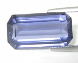 7.76Cts Amazing Natural Unheated Iolite Emerald Cut Loose Gemstone REF VIDE