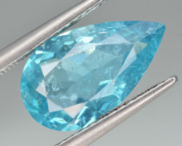 Natural Apatite 3.64 Cts  Excellent Neon Blue Color Gemstone