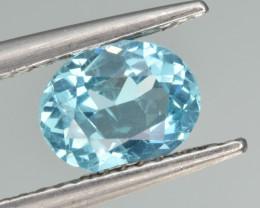 Natural Apatite 1.06 Cts  Excellent Neon Blue Color Gemstone