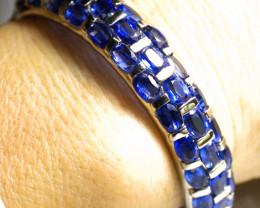 177.0 Tcw. Kyanite, White Gold Plated Bracelet - Gorgeous