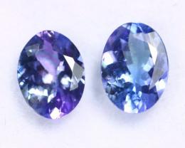 2.20cts Natural Tanzanite Gemstone Pairs / JKL1833
