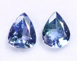 2.11cts Natural Tanzanite Gemstone Pairs / JKL1836