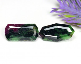 Ruby Zoisite 14.40Ct 2Pcs Natural Unheated Ruby Zoisite C0906