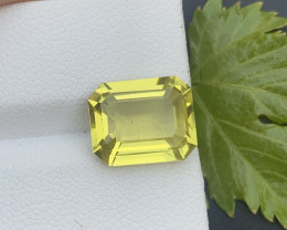 Lemon Citrine 4.90 ct Pendant Size