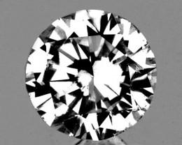 4.50 mm Round 0.53ct White Zircon [VVS]