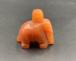 54.90 Ct Hand Carved Rare Color Burmese Jade Elephant. Jde-588