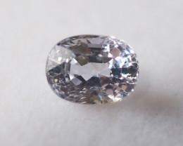 1.11ct unheated white sapphire