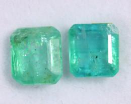 3.00cts Natural Zambian Green Emerald Pairs /MAW2663