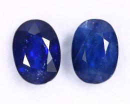 2.29cts Natural Dark Blue Sapphire Pairs /MAY2669