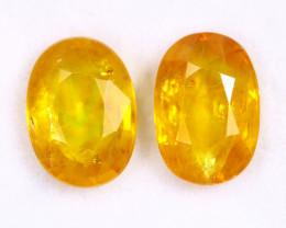 4.59cts Natural Yellow Sapphire Pairs /MAW2684