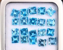 10.82cts Natural Swiss Blue Topaz Lots /MAZ2685
