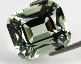 6.99Cts Stunning Natural Green Amethyst (prasiolite) Fashion Emerald Cut