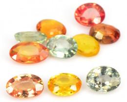 Mix Color Sapphire 2.15 Cts 10 Pcs Rare Natural Fancy  Loose Gemstone-Parce