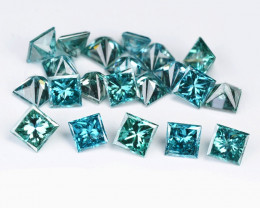 Blue Diamond 0.25 Cts 9Pcs Natural Fancy  Intense Blue  Diamond- parcel