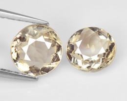 Morganite 1.48 Cts 2 Pcs Rare Natural Pink Color Gemstone- Pair