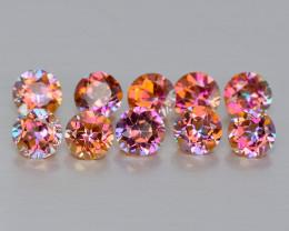 Mystic Topaz 1.38 Cts 10 Pcs Fancy Orange Multi-Color Natural Gemstone- Par