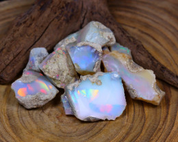 Welo Rough 120.90Ct Natural Ethiopian Play Of Color Rough Opal C0930
