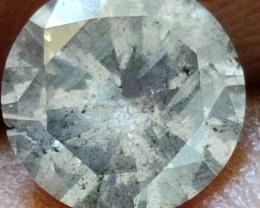 Natural  white diamond 0.90 ctw  g colour si  1pcs