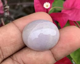 38.400 Cts Jade Levander 100% Natural Unheated Burmese Mine Oval Cab