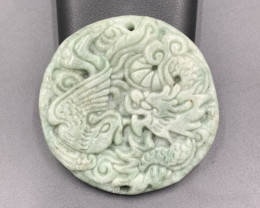 137.60 Cts Excellent Hand Carved Beautiful Jade.