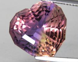 21.41Cts Amazing Quality Natural Ametrine Heart Shape Custom Cut Loose Gem