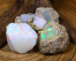 Welo Rough 106.85Ct Natural Ethiopian Play Of Color Rough Opal A0920