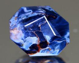 Pietersite 6.82Ct Master Cut Natural Namibia Meuve Blue Pietersite C0232