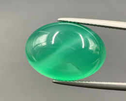 12.80 Cts Excellent Green Agate Cabochon. Agg-595