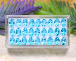 Blue Apatite 11.79Ct VS Natural Brazil Neon Blue Color Apatite Lot B0315