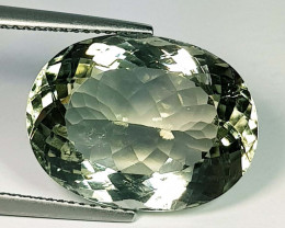 14.91 ct Top Quality Gem Oval Cut Natural Green Amethyst