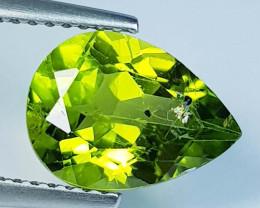 3.27 ct  Top Quality Gem  Pear Cut Top Luster Natural Peridot