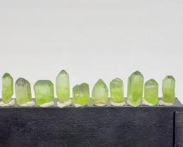 Peridot Crystal 88.95 cts 10 pcs (US seller)