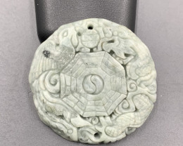 143.40 Cts Awesome Hand Carved Beautiful Jade.
