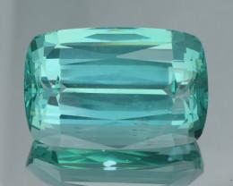 62.16Ct Top Blue Apatite Precision Cut Gemstone Good Clarity