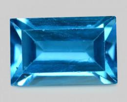 London Blue Topaz 4.17 Cts Rare Fancy Blue Color Natural Gemstone