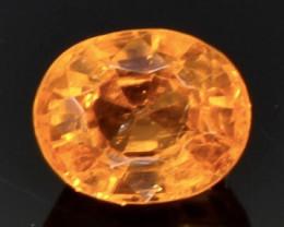 0.88 Crt  spessartite garnet  Natural  Faceted Gemstone.( AB 40)