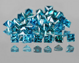 Blue Diamond 0.25 Cts 8 Pcs Natural Fancy  Intense Blue  Diamond