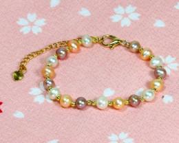 26.85Ct Baroque Freshwater Pearl Beads Bracelet C0416
