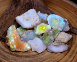 Welo Rough 129.40Ct Natural Ethiopian Rainbow Flash Opal Rough C0427