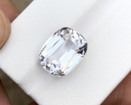 8.70 Carats Natural Kunzite Cut Stone from Afghanistan