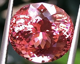10.69ct Pink touch Orange Tourmaline With Excellent Luster And Fine Cutting